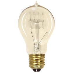 60W 120V A19 E26 Vintage Reproduction Quad Loop Coil Bulb