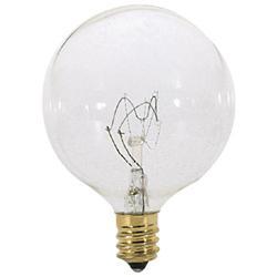 60W 120V G16 1/2 E12 Clear Bulb