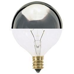 60W 120V G16 1/2 E12 Silver Crown Bulb