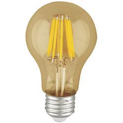 6W 120V A19 E26 LED Filament Amber Bulb
