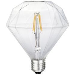 6W 120V E26 Inverted Pyramid LED Filament Clear Bulb