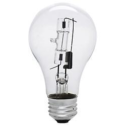 72W 120V A19 E26 Clear Halogen Bulb (2PK)