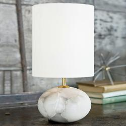Alabaster Orb Lamp