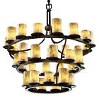 Alabaster Rocks! 3-Tier Inverted Ring Chandelier