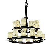 Alabaster Rocks! Dakota 2-Tier Chandelier