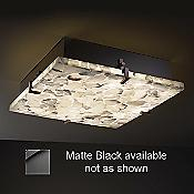 Alabaster Rocks! Square Ceiling Light (Black/Med) - OPEN BOX
