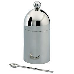 Aldo Rossi Sugar Bowl with Spoon (Steel) - OPEN BOX RETURN