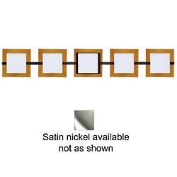 Alex Bath Bar w/ Trim (Armagnac/Nickel/5 Light) - OPEN BOX