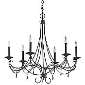Aliya Chandelier (Rustic Iron/6 Lights) - OPEN BOX RETURN