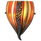 Amore Onion Amber Wall Sconce