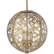 Arabesque Pendant (Silver Leaf Patina) - OPEN BOX RETURN