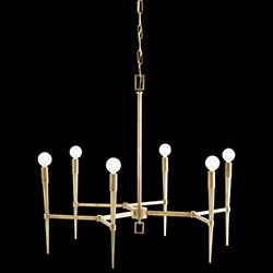 Auburn Chandelier (Antique Brass) - OPEN BOX RETURN