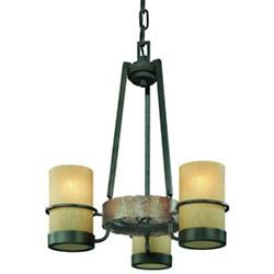 Bamboo 3-Light Chandelier
