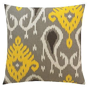 Gray Throw Pillow <br/> Batavia Pillow by DwellStudio