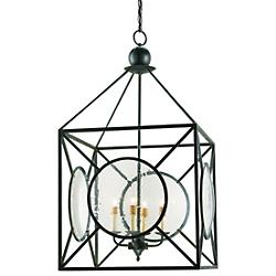 Beckmore Lantern (Clear Seeded/Old Iron) - OPEN BOX RETURN
