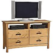 Berkeley 4 Drawer Dresser and TV Organizers