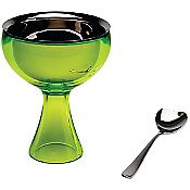 Big Love Ice Cream Bowl with Spoon (Green Bud) - OPEN BOX