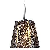 "Bling I LED Down Pendant (Chr/Blk/4"" Kiss) - OPEN BOX RETURN"