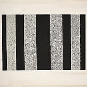 Bold Stripe Shag Mat (Black/White/Utility Mat) - OPEN BOX