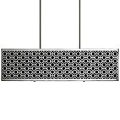 Brentwood Side Patterned Rectangle Linear Suspension