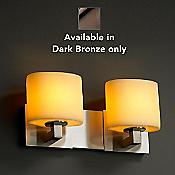 CandleAria Modular Bath Bar (Dark Bronze/2-Light)  - OPEN BOX RETURN