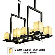 CandleAria Montana Chandelier (Cream/Black/Flat) - OPEN BOX