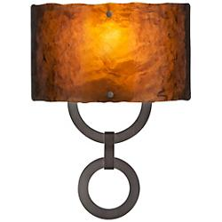 Carlyle Round Link Glass Sconce