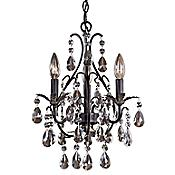 Castlewood Crystal Mini-Chandelier (Silver) - OPEN BOX
