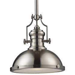 Chadwick Pendant with Metal Shade (Satin Nickel) - OPEN BOX
