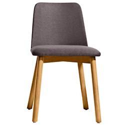 Chip Dining Chair (Gunmetal/White Oak) - OPEN BOX RETURN