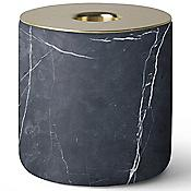 Chunk of Black Marble Candleholder