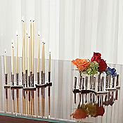 City Scape Bud Vase/Candle Holder (Chrome) - OPEN BOX RETURN