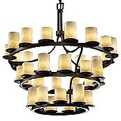 Clouds Dakota 3-Tier Inverted Chandelier