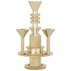 Cog Candelabra (Brass) - OPEN BOX RETURN