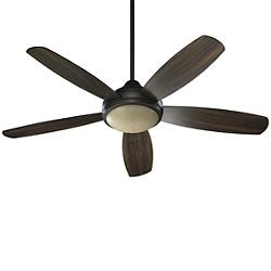 Colton Ceiling Fan (Bronze/Walnut/Amber Scavo) - OPEN BOX