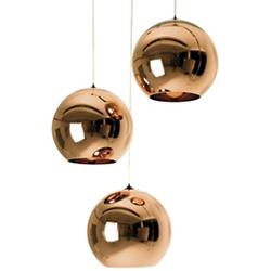 Copper Large Multi-Light Pendant