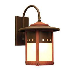 Copper Top Outdoor Wall Lantern