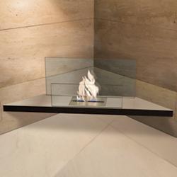 Corner Flame Fireplace