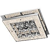 Crushed Ice Flushmount (Clear/Chrome) - OPEN BOX RETURN