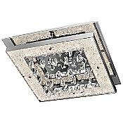Crushed Ice Square Flushmount