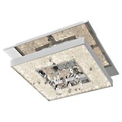 Crushed Ice Square LED Flushmount