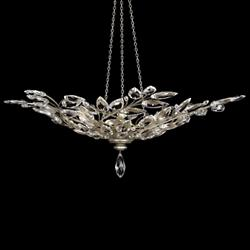 Crystal Laurel Bowl Pendant