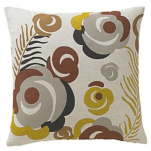 Gray Throw Pillow <br/> Deco Floral Pillow by DwellStudio