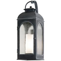 Derby Outdoor Wall Sconce (Iron/Ivory/Medium) - OPEN BOX