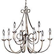 Dover 2-Tier Scroll Chandelier (Nickel) - OPEN BOX RETURN