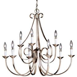 Dover 2-Tier Scroll Chandelier