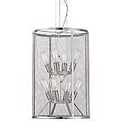 Downtown Edison Screened Pendant (Nickel) - OPEN BOX RETURN