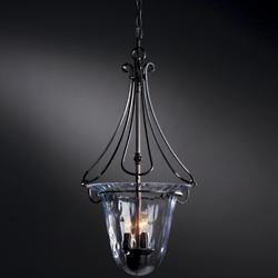 Draped Loop Foyer Pendant With Water Glass