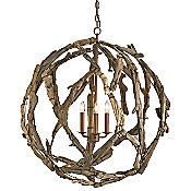Driftwood Orb Chandelier
