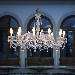Drylight Single-Tier Outdoor Chandelier